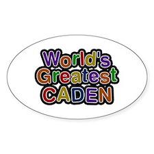 World's Greatest Caden Oval Decal