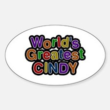 World's Greatest Cindy Oval Decal