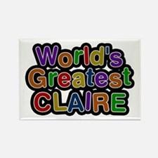 World's Greatest Claire Rectangle Magnet