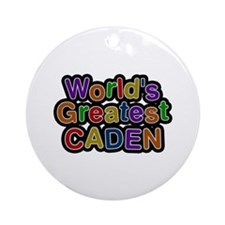 World's Greatest Caden Round Ornament
