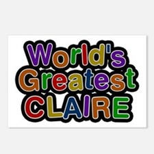 World's Greatest Claire Postcards 8 Pack