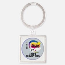 I Dream of Fairy Godmothers Square Keychain