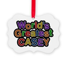 World's Greatest Casey Ornament