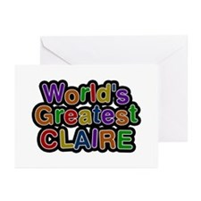 World's Greatest Claire Greeting Card 10 Pack