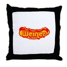 Weiner Throw Pillow