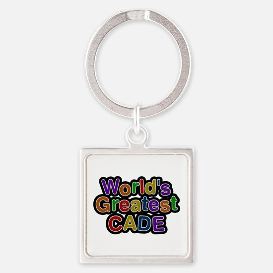 World's Greatest Cade Square Keychain