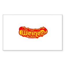 Weiner Rectangle Decal