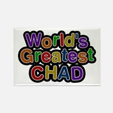 World's Greatest Chad Rectangle Magnet 10 Pack