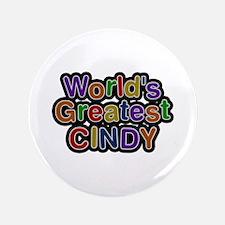 World's Greatest Cindy Big Button