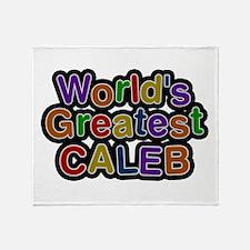 World's Greatest Caleb Throw Blanket