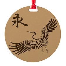 Eternal Crane (brown) Ornament