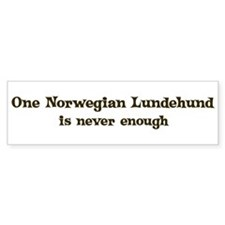 One Norwegian Lundehund Bumper Bumper Sticker