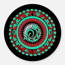 Lizard Mandala Round Car Magnet