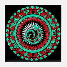 Lizard Mandala Tile Coaster