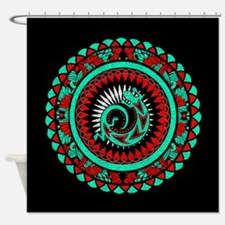 Lizard Mandala Shower Curtain