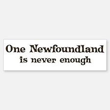 One Newfoundland Bumper Bumper Bumper Sticker