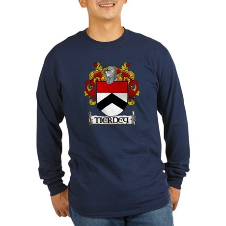 Tierney Coat of Arms Long Sleeve Dark T-Shirt