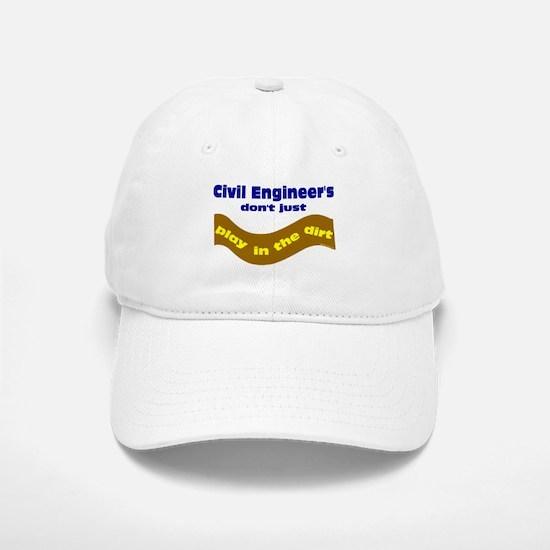 Civil Engineers Play Baseball Baseball Cap