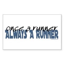 Once A Runner... Rectangle Decal