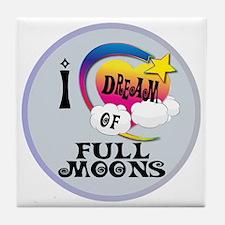 I Dream of Full Moons Tile Coaster