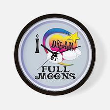 I Dream of Full Moons Wall Clock