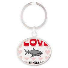 WHALE-SHARKS7316 Oval Keychain