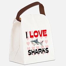 SHARKS11074 Canvas Lunch Bag