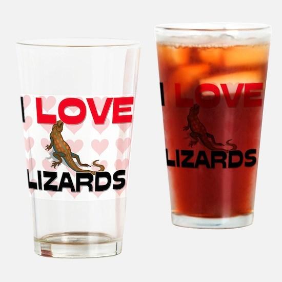LIZARDS84197 Drinking Glass