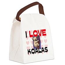 KOALAS79208 Canvas Lunch Bag