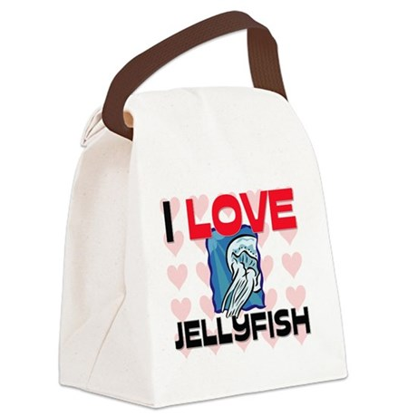 JELLYFISH83217 Canvas Lunch Bag