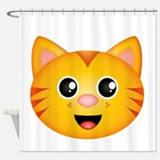 Kitty Face Shower Curtain