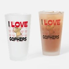 GOPHERS98256 Drinking Glass