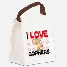 GOPHERS98256 Canvas Lunch Bag
