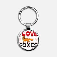 FOXES61271 Round Keychain