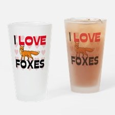 FOXES61271 Drinking Glass
