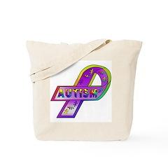 AUTISM Ribbon Tote Bag
