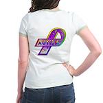 AUTISM Ribbon (OnBack) Jr. Ringer T-Shirt