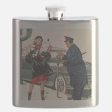 Vintage Christmas Shopping Flask