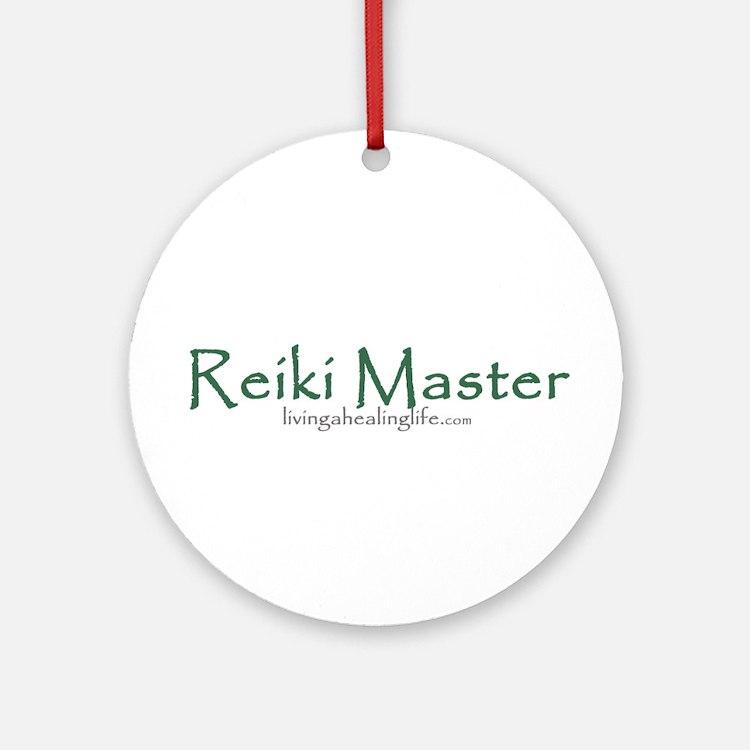 Reiki Master, green Ornament (Round)