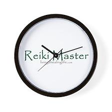 Reiki Master, green Wall Clock