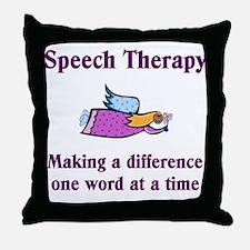Speech Therapy Throw Pillow