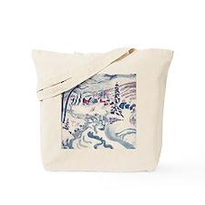 Vintage Winter Village Tote Bag