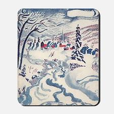 Vintage Winter Village Mousepad