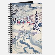 Vintage Winter Village Journal