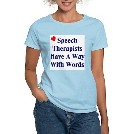 Speech Therapy Women's Pink T-Shirt