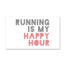 Running Is My Happy Hour Car Magnet 20 x 12