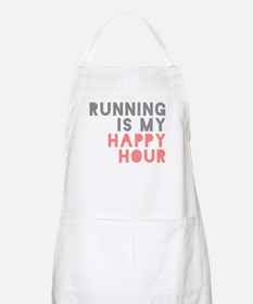 Running Is My Happy Hour Apron