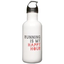 Running Is My Happy Hour Water Bottle