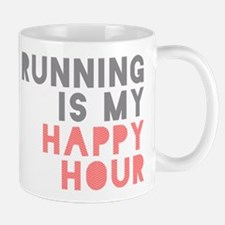 Running Is My Happy Hour Mug