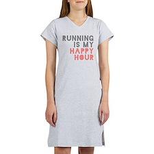 Running Is My Happy Hour Women's Nightshirt